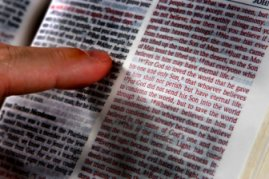 Bible Finger pointing to John 3_16