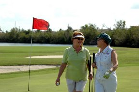 Friends Women Golfing