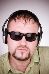 Man Music Lover Headphones in shades